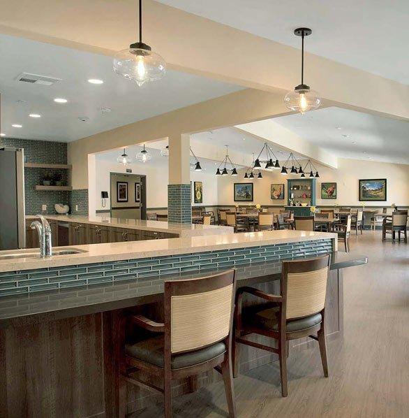 Senior housing dining room